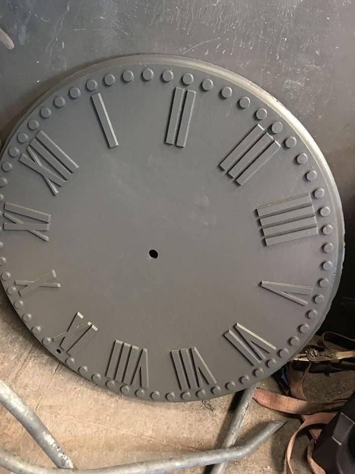 clock face after