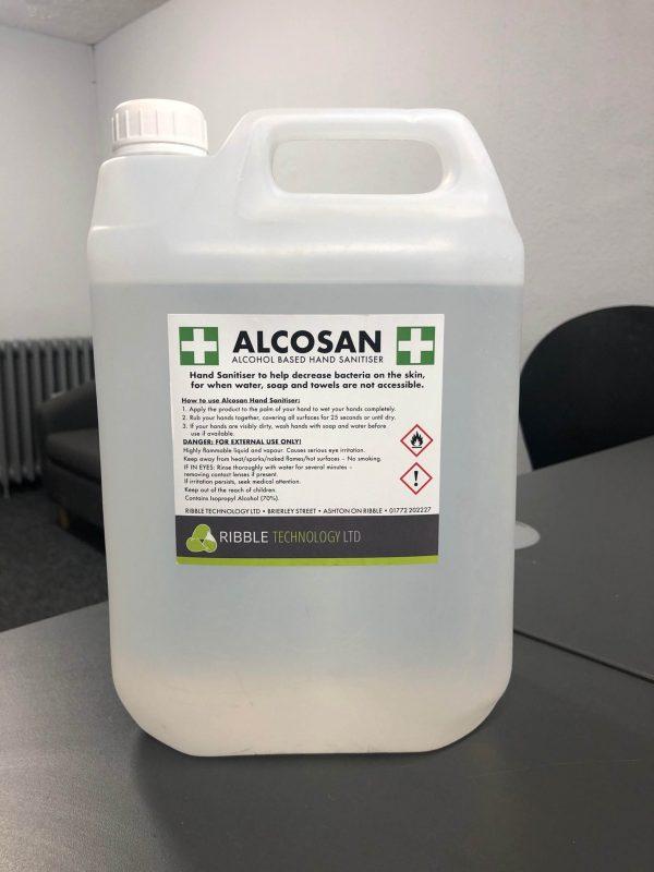 anti bacterial hand sanitiser gel 5 litre
